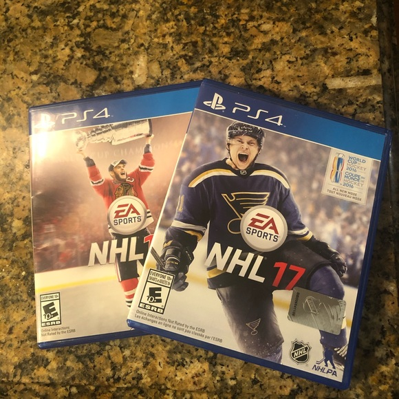 ⚡️ 3/$25!  PS4 NHL 16 and NHL 17